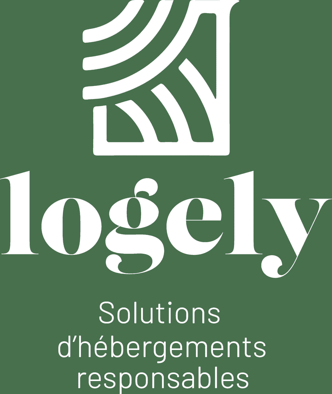 Logo de l'enseigne Logely en couleur blanche